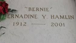 "Bernadine Y. ""Bernie"" Hamlin (1912-2001) - Find A Grave Memorial"