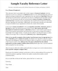 faculty letter of recommendation 10 sample letters of reference samples examples templates