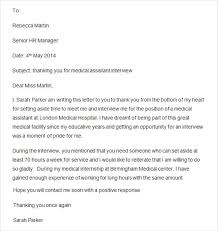 Sample Thank You Letter After Interview Cna Position Projectspyral Com