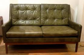 rare 1950s american mid century modern leather loveseat by locke in good condition for
