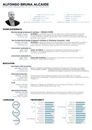 Architect Resume Samples Mesmerizing The Top Architecture R Sum CV Designs ArchDaily Resume Templates