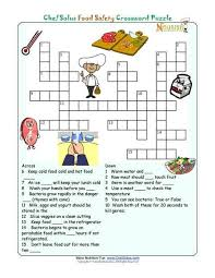 ideas about food safety on pinterest   food safety and    printable nutrition crossword puzzle   food safety