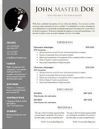 Resume Template Document Template Cv Doc Colesthecolossusco