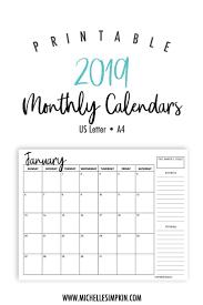 free calendar printable 2019 2019 printable monthly calendars landscape us letter a4