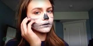 half skull makeup tutorial lily katherine