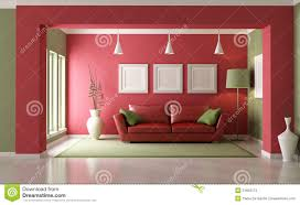 Red Living Room Red And Green Living Room Stock Photos Image 21823173