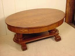 antique round oak coffee table