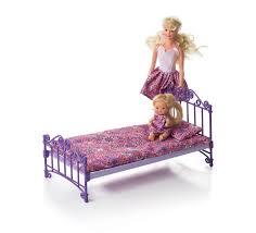 Аксессуар для <b>кукол ОГОНЕК Кроватка</b>, цвет фиолетовый ...