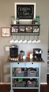 A coffee maker, with sugar and pods stored neatly beside it. Eye Opening Coffee Bars You Ll Want For Your Own Kitchen Coffee Bar Home Home Bar Rooms Coffee Bars In Kitchen