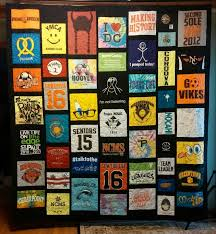 T Shirt Quilt Pattern With Different Size Blocks Enchanting Custom Memory Quilts TShirt Quilts