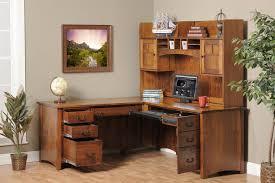 corner office desk wood. Desk:Oak Corner Office Desk Wood Computer Hutch Mini Handcrafted Desks Dark E