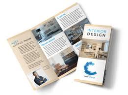 Design Brochure Template Simple Interior Design Tri Fold Brochure Template