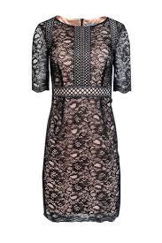 Antonio Melani Midi Dress W Black Lace Overlay Sz 2