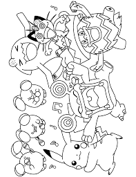 Small Picture Free Printable Pokemon Coloring Pages zimeonme
