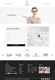 Glendale Website Design Conservative Elegant Web Design For Vita Optical By