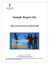 sample report on organizational behavior by expert writers of instan