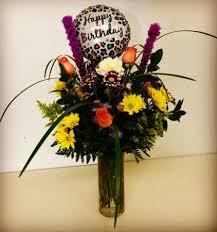 happy birthday celebration rose mix