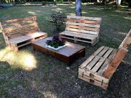 pallet garden furniture. modren garden gorgeous pallet outdoor furniture set inside garden