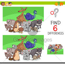 cartoon ilration of finding six differences
