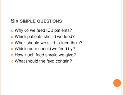nutrition in icu