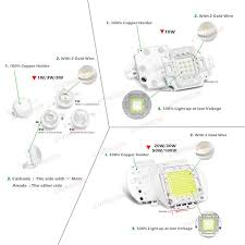 High Power LED COB Lamp SMD Bulbs Chip 1W <b>3W 5W 10W 20W</b> ...