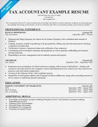 tax accountant resume sample tax resume sample