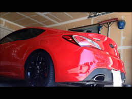 2013 Hyundai Genesis coupe 3.8 R-spec exhaust sounds + race - YouTube
