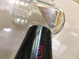 it s very common to have lots glass jars in the kitchen they came with those sticky labels that seems impossible to get rid of not any more