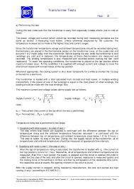 best transformer test procedures en 24