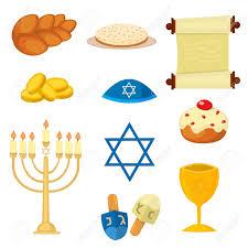 Traditional Symbols Judaism Church Traditional Symbols Jewish Icons Set Isolated