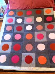 Best 25+ Quilted throws ideas on Pinterest | Lands end store ... & Upcycled Recycled Repurposed Felted Wool Sweater Blanket Quilt Throw Gray  with Pink, Orange, Red Adamdwight.com