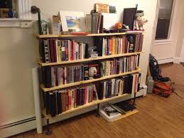 Pvc Pipe Bookshelf Inspiring Bookshelf Storage Design With Recycle Wood And Black