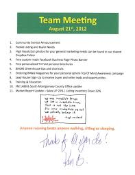 Sales Meeting Agenda Team Sales Meeting Agenda Notes Better Homes And Gardens