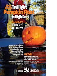 High Float Twilight Pumpkin Float In High Park Highparkorg