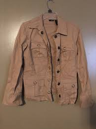 tan las casual jacket coat size s