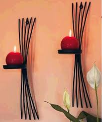 2pcs pack european style metal candle holders wall candle stand
