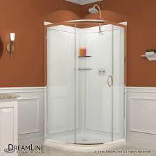 36 x 36 corner shower kit. enclosure, base \u0026 backwall kit 36 x corner shower