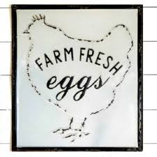 farm fresh eggs framed wall decor