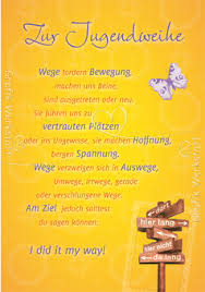Artnr 23975 Doppelkarten Zur Jugendweihe Jugendweihe