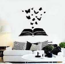 vinyl wall decal erfly open book