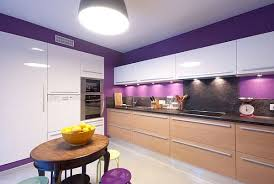 ... Beautiful purple walls in the kitchen