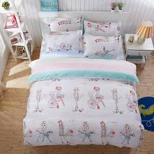 Guitar girl cartoon pattern quilt cover AB face pattern bedding ... & Guitar girl cartoon pattern quilt cover AB face pattern bedding textile  aloe Super Soft 4Pcs bed sheet +Duvet Cover+ pillowcase -in Bedding Sets  from Home ... Adamdwight.com