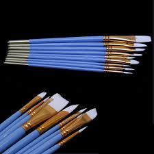 10pcs blue gouache watercolor oil painting nail art pen nylon white hair brushes affiliate