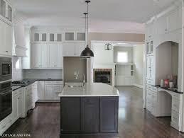 White Kitchens With Islands Picture Of Black Kitchen Island With White Ceramic Top