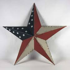 Metal Star Wall Decor Country Tin Barn Star Wall Decor In Distressed Americana 8 Inch
