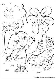 Dora Colouring Page Trustbanksurinamecom