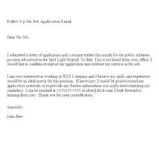 Examples Of Follow Up Letters After Sending Resume Resume Bank