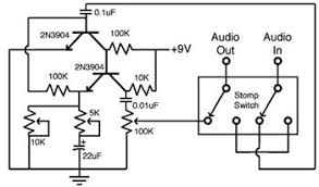 build your own guitar fuzz pedal circuit schematic