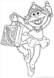 Cookie Monster Halloween Coloring Pages Sesame Street Birthday