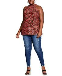 Trendy Plus Size Leopard Print Top